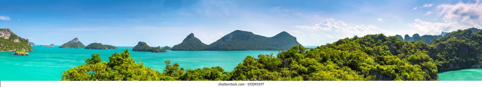 Thailand landscape panorama. Nature panorama.