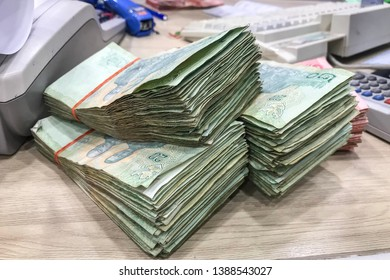 Thailand money banknotes 20 baht, amount 6000 baht