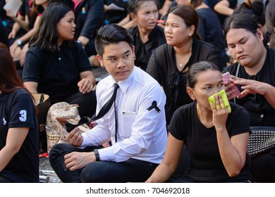 Thailand, Nakhon Ratchasima, Thao Suranaree Monument - On October 27, 2016 at 18:30 PM: The ceremony to commemorate King Bhumibol Adulyadej
