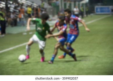 Thailand national football athlete blurred abstract background
