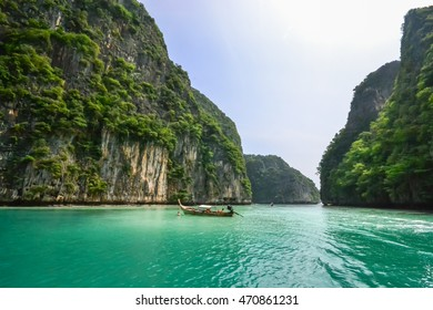 Thailand nature landscape tourism background with sea