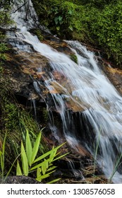 Thailand nature waterfall and mountains