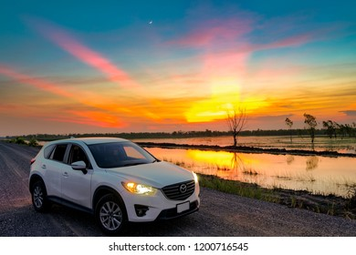 Thailand - October 11, 2018: Thailand - Mazda cx5 on the beautiful background, mazda cx-5 on the road
