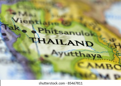 Thailand on the Map.