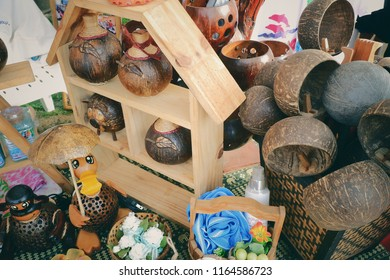 Thailand OTOP  products made from villagers made from coconut shell. The invention is used in the home and decor.