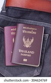 thailand passport on jean