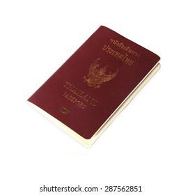 Thailand Passport on white background