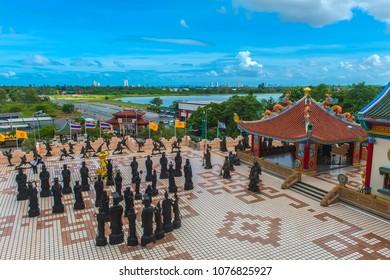 Thailand, Pattaya 30,06,2017  Anek Kuson Sala Pattaya,The Viharn Sien is a beautiful Chinese temple South of Pattaya Chonburi Thailand