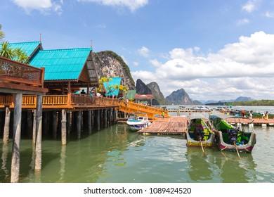 THAILAND, PHUKET, 10 January  2018 - Ko Panyi the Gypsy village on water