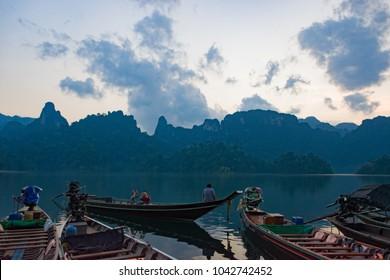 Thailand, Phuket, 2017 - Thailand boat on the lake