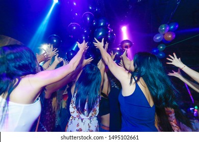 Thailand, phuket, Patong Beach, on 27 may 2019 Taipan Disco have celebrate for big party balloons. A Lot peoples come to join