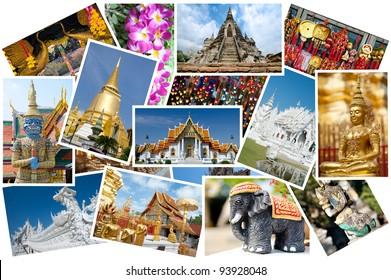 Thailand postcard montage