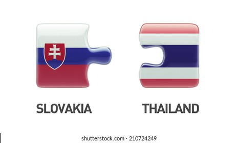 Thailand Slovakia High Resolution Puzzle Concept