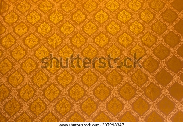 Thailand striped pattern on the wall in temple Thailand,public area , no need of property release.
