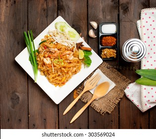 Thailand style noodles, stir-fried rice noodles (Pad Thai)