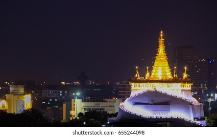 Thailand Temple beautiful on night time