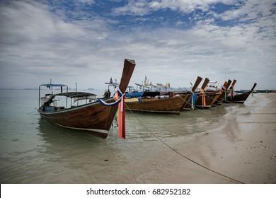 Thailand, Thai boats on the beach