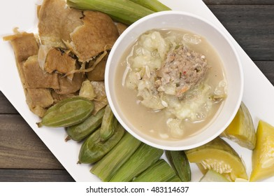 Thailand traditional food chili . Serve with boiled vegetables