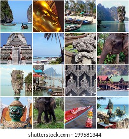 Thailand travel collage