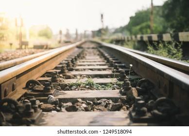 Thailand vintage railroad and color tone effect