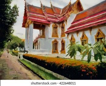 Thailand watercolor illustration