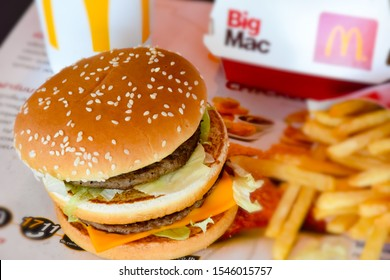 LopBuri - Thailand,31/10/2019: The McDonald's logo has branches around the world. The legendary deliciousness of McDonald's hamburgers began in the 1940s. Dick & Marice, McDonald's two brothers.