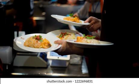 Thailand,Bangkok-November 6,2018:Pad Thai photo at Thipsamai Restaurant,a very well-known  padthai restaurant in Thailand