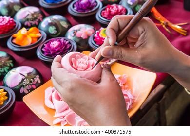 Thailander carving soap flower.