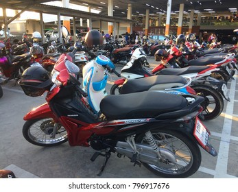 THAILAND,SONGKHLA-January 12,2018: Parking in the mall