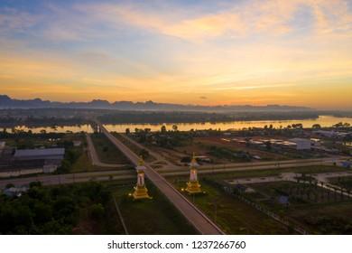 Thai-Laos Friendship Bridge # 3 , A Beautiful Morning, Nakhon Phanom, Thailand