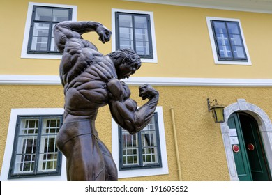 THAL, AUSTRIA - MAY 3: The front of Arnold Schwarzenegger Museum on May 3, 2014 in Thal, Austria. The Museum opened near Graz in 2011 on the birthplace of the actor.