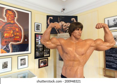 THAL, AUSTRIA - MAY 3: Interior of Arnold Schwarzenegger Museum on May 3, 2014 in Thal, Austria. The Museum opened near Graz in 2011 on the birthplace of the actor.