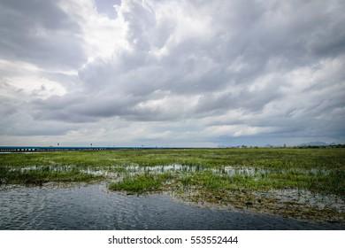 Thale Noi, Phatthalung province in Thailand