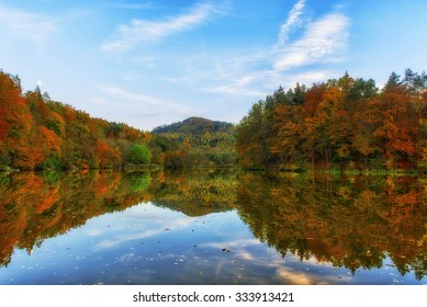 Thalersee lake in Graz, Austria