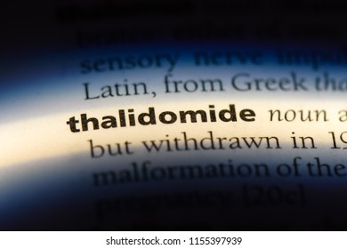 thalidomide word in a dictionary. thalidomide concept.