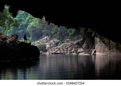 Tham Kong Lo Cave in Laos