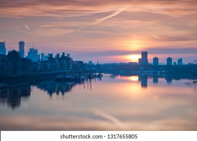Thames in London at sunrise