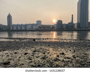 Thames River Sunset, South Bank Wandsworth