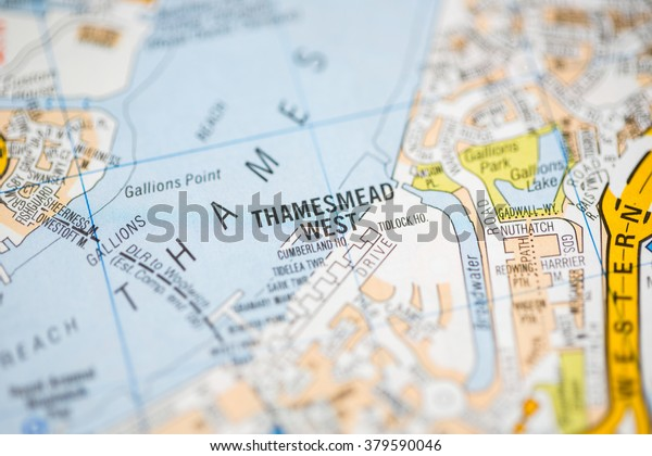 Map Of West London Uk.Thamesmead West London Uk Map Stock Photo Edit Now 379590046