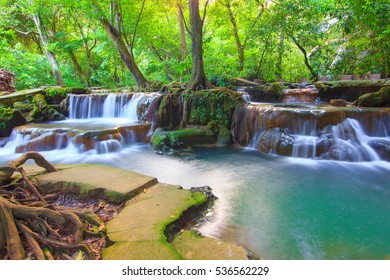 Than Bok khorani waterfall. Than Bok khorani National Park. Krabi Thailand
