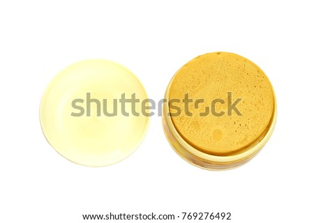 Thanaka Powder Plastic Jar Isolated On Stock Photo (Edit Now