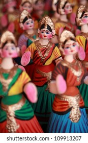 Thanjavur dancing dolls. Selectively focused.
