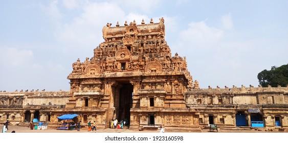 Thanjavur,tamilnadu,india-27-01-2021  thanjavur periya kovil thamjai pragadeeswarar kovil thanjai periya kovil raja raja cholan