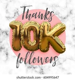 Thank you 10 thousand followers. Social media subscriber banner.