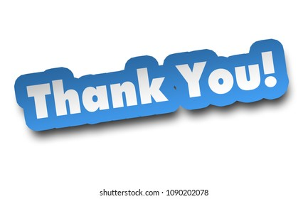 thank you concept 3d illustration isolated