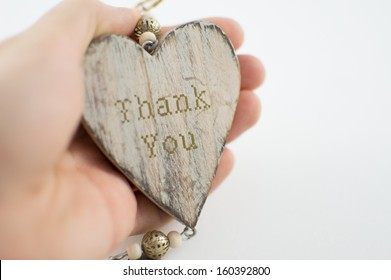 Thank You Heart, held in hand