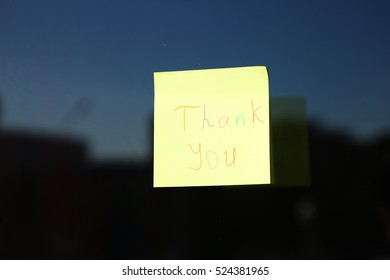 thank you message on a sticker