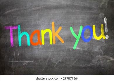Thank You written on a chalkboard