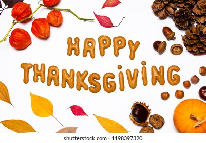 Thanksgiving day background with with seasonal decorations