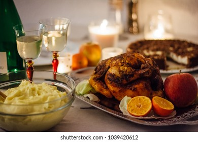 Thanksgiving dinner - candle light